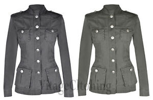 New-Ladies-Women-039-s-Cotton-Multi-Pocket-Military-RAW-Look-Summer-Jacket