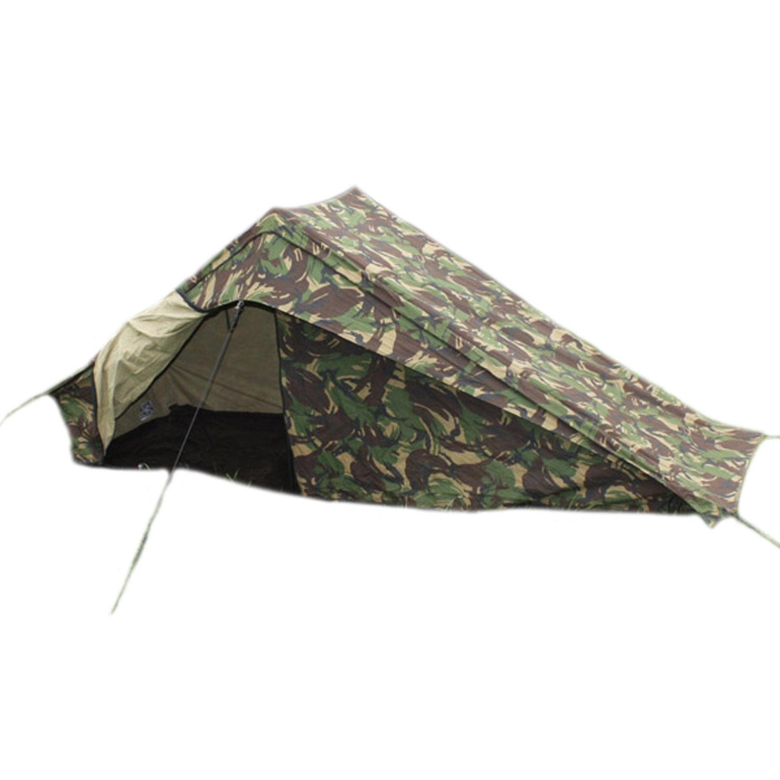DUTCH ARMY CAMOUFLAGE 2 HOMMES tente tente tente avec groundsheet CHEVILLES & bâtons Grade 1 4469dc
