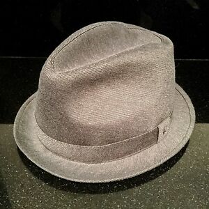 a7c1802a9eb Image is loading Grey-Trilby-Hat-Size-Small-Lined-By-Esperando-