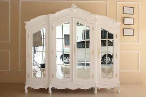 Kleiderschrank weiß barock  Barockschrank Antik Barock Kleiderschrank Weiß Armoire Louis XV ...