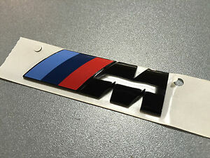 neues original bmw m emblem schriftzug heckklappe schwarz. Black Bedroom Furniture Sets. Home Design Ideas