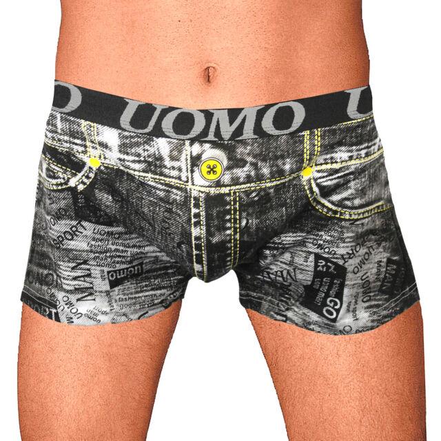 Herren Unterhose Boxerbrief Boxershorts Hipster Trunk Jeansoptik Gr.44 46 48 50