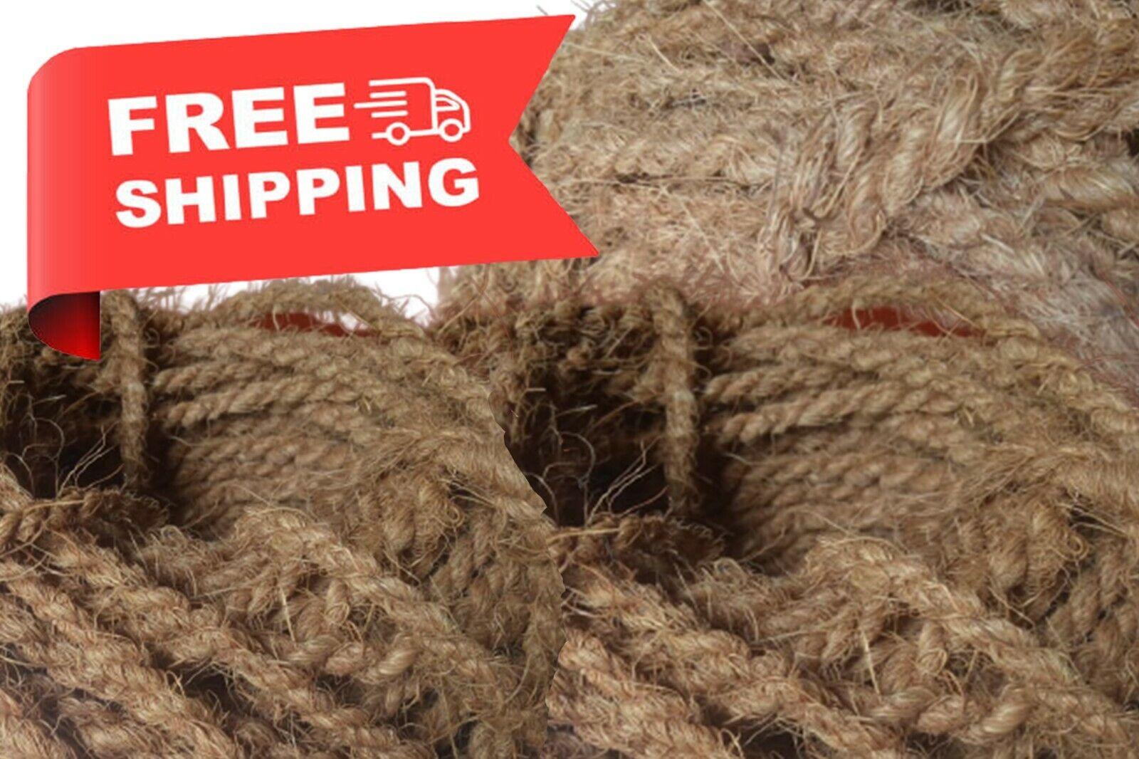 Coconut Coir Husk Fiber Rope Natural Handmade Twisted 100% Eco Friendly Hanging