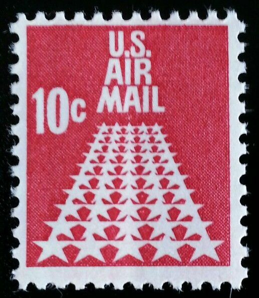 1968 10c 50-Star Runway, Air Mail Scott C72 Mint F/VF N