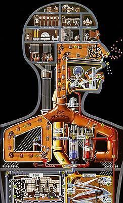 Bild Medizinisch Abstrakt Kunst Fritz Kahn Maschine Mann Deutsche Plakat
