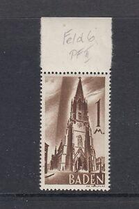 Franzoesische-Zone-Baden-Mi-Nr-13-Plattenfehler-II-postfrisch