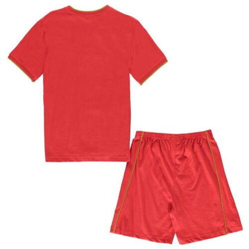 Liverpool FC Boys Shorts Pyjamas Red 100/% Cotton pyjama set 5-13 Years
