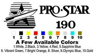 2 Color MasterCraft Prostar 190 Full set #2