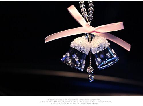 Car Hanging Bell Pendant Interior Decoration Ornaments Crystal Campanula Gift