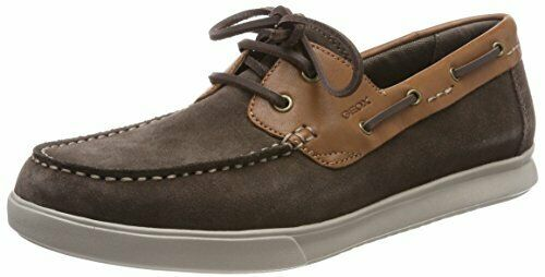 Geox Mens WALEE 2 Moccasin Dark Chocolate 43 M EU (10 US)