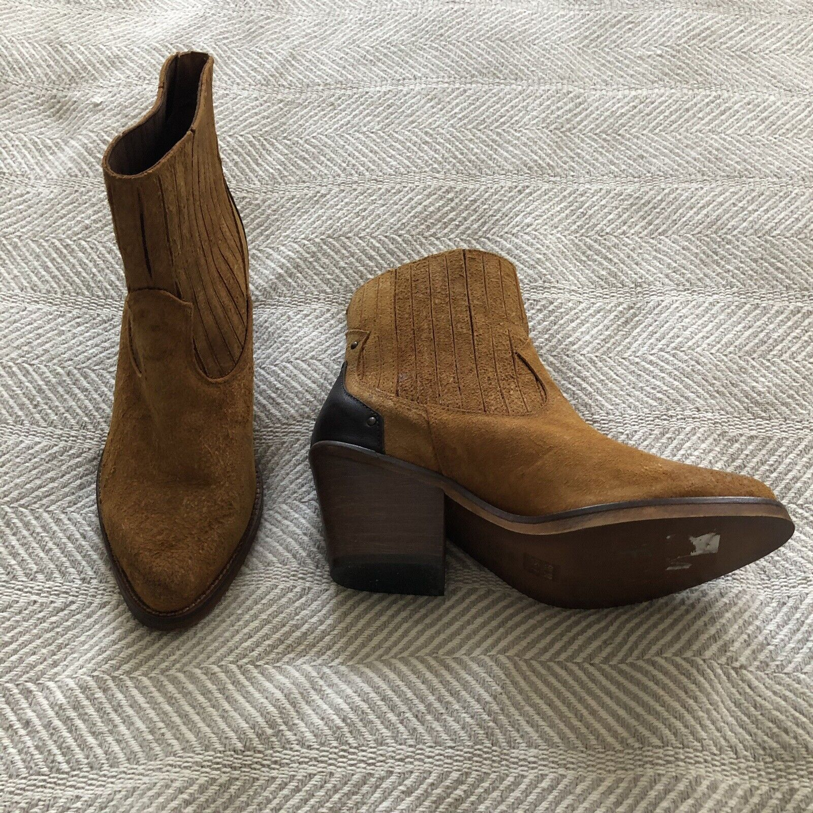 MUSSE & CLOUD JENCI BOOTIES Cue 38 Size 7 ANKLE BOOTS LEATHER NWOB