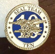 NEW MILITARY NAVY SEAL TEAM TEN 10 HAT LAPEL PIN