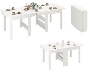 Details zu Klapptisch weiß Esstisch ausklappbar bis 240cm Tisch klappbar Funktionstisch
