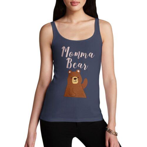 Novelty Tank Top Momma Bear Women/'s Tank Top