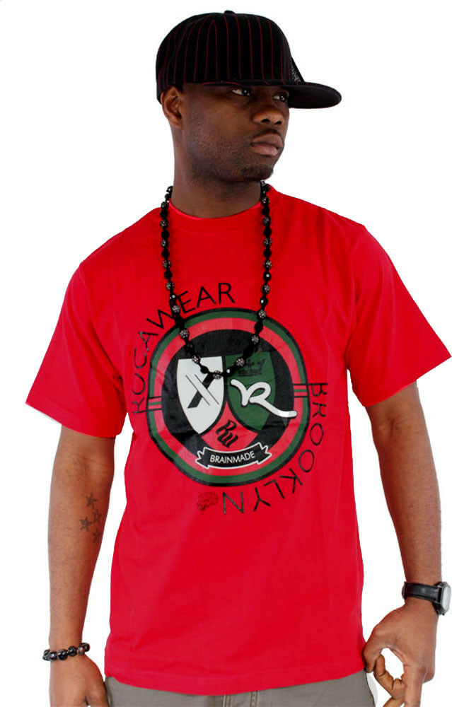 Rocawear Mens Star Rouge SIGNOUT Star Mens Hip Hop Thé Shirts MONEY Time Is Summer 5c26bf