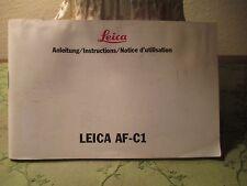 Leica AF-C1 Instruction Manual, Original (IV/91): E F G