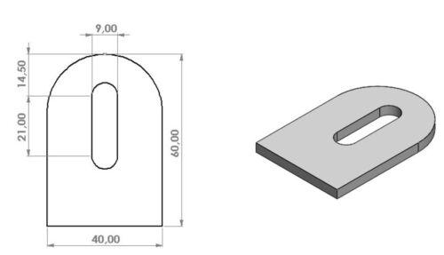 Anschweißlasche Edelstahl 4mm Ankerplatte Lasche Anschweisslasche