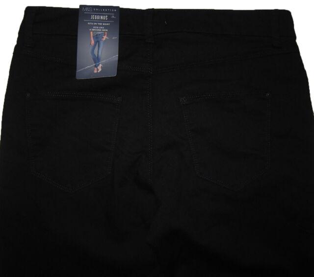 822ab170b343e Womens Marks & Spencer Black Jeggings Size 14 Medium Leg 29 Defect ...