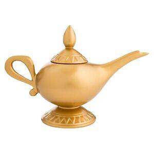 Ceramic-Aladdin-Lamp-Teapot-Collectible-Genie-Lamp-Tea-Kettle-Gold-Tea-Pot