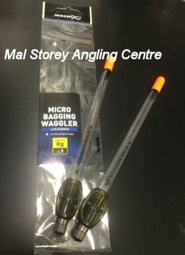 Fox Matrix Adjustable Micro Bagging Loaded Clear Wagglers  8g 10g