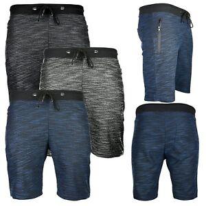 Mens-Summer-Activewear-Shorts-Zip-Pockets-Gym-Jogging-Running-Casual-Shorts
