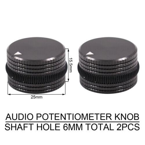 2PCS AUDIO KNOB Machined Aluminum Amplifier Potentiometer CD DAC Volume Knob DIY