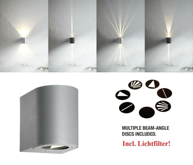 Design LED Outdoor Wall light Canto Nordlux 6W 3000K grey filter