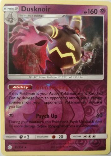 Zwirrfinst - 85//236 Cosmic Eclipse Rare Reverse Holo NM EN Pokemon Dusknoir