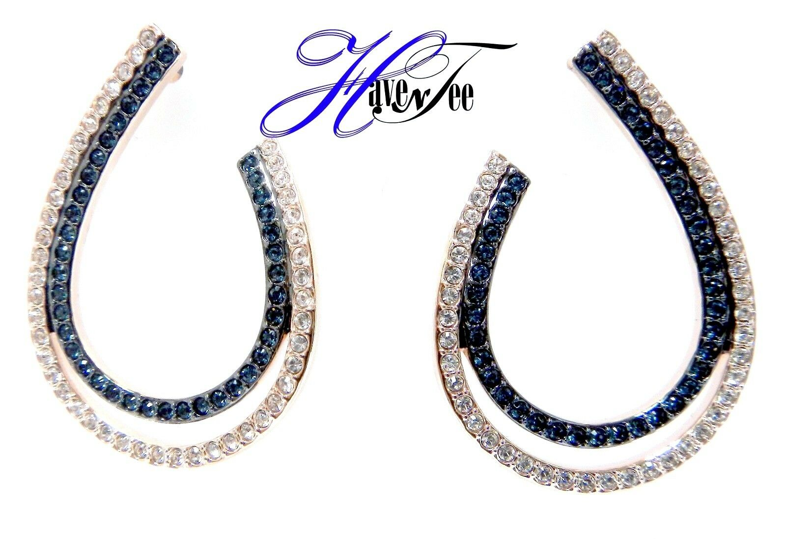 LEMON HOOP PIERCED EARRINGS, blueE MIXED PLATING 2018 SWAROVSKI JEWELRY 5382033