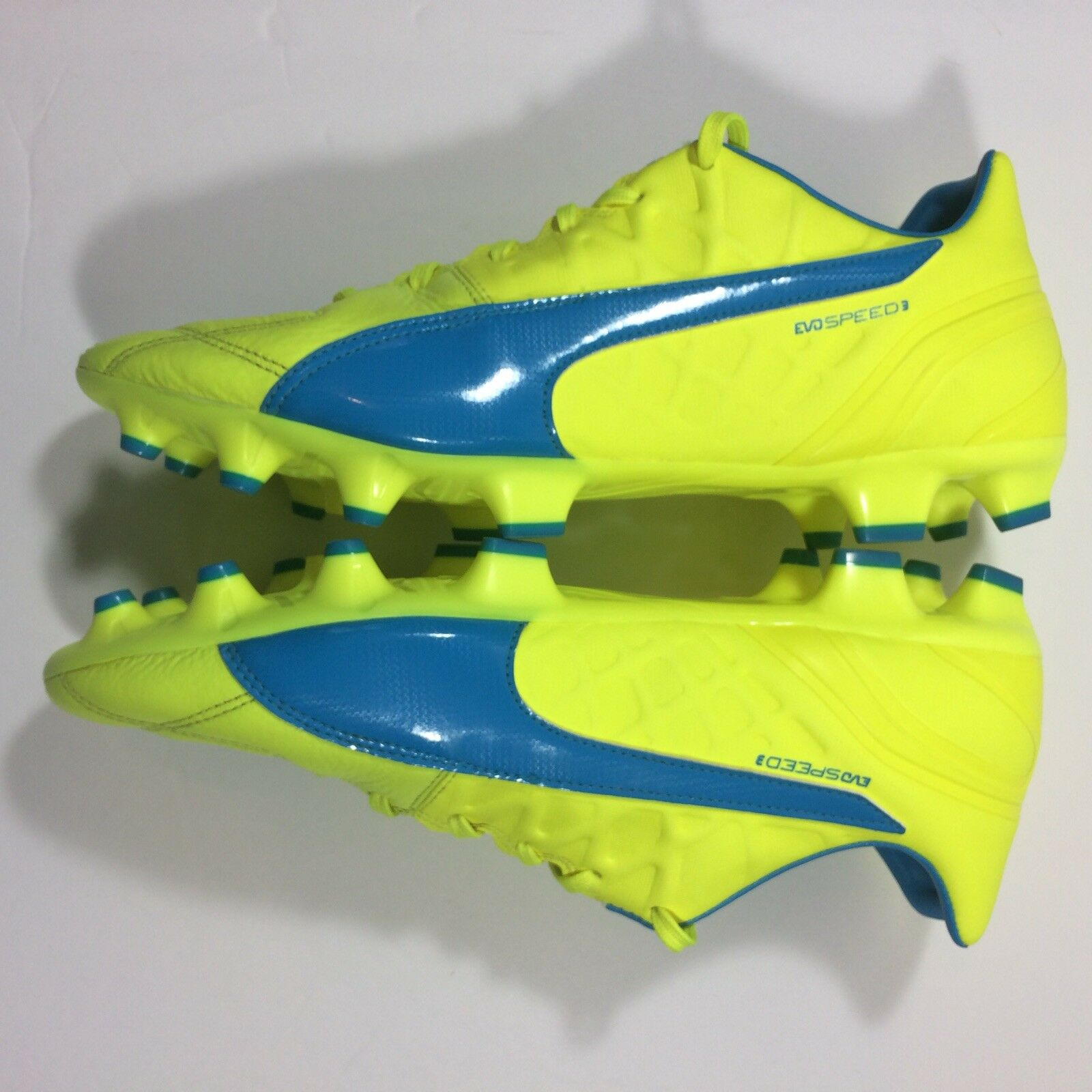 NWB Puma Evospeed 3.4 Lth Firm Ground Football/Soccer Cleats Cleats Cleats  Herren 10.5 Gelb cc4356