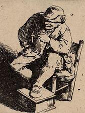 CORNELIS BEGA DUTCH SMOKER OLD ART PAINTING POSTER PRINT BB5155A