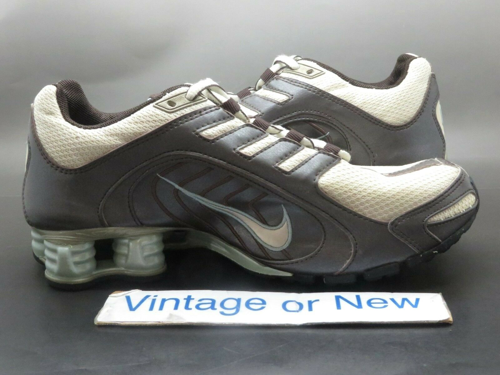 Women's Nike Shox Navina Bone Brown Teal 313809-201 313809-201 313809-201 Running shoes 2007 sz 6.5 40f4a3