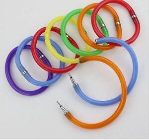 Flexible-Ballpoint-Pen-Wrist-Bracelet-Bangle-Xmas-Stocking-Filler