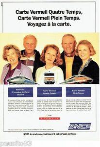 Carte Vermeil Sncf.Details Sur Publicite Advertising 126 1992 Sncf Train Tgv La Carte Vermeil
