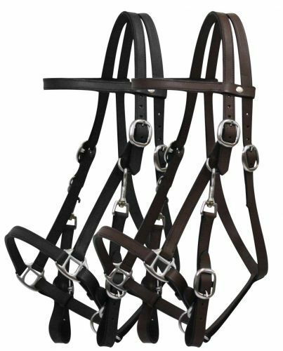 Full Horse Brown Leather Trail Halter Bridle Combo Adjustable 4  Ways  7 ft Reins  considerate service