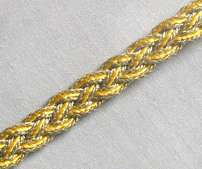 4 Yards. Sunflower & Gold. Woven Braid Trim. Celtic Knot. Passementerie. Gimp