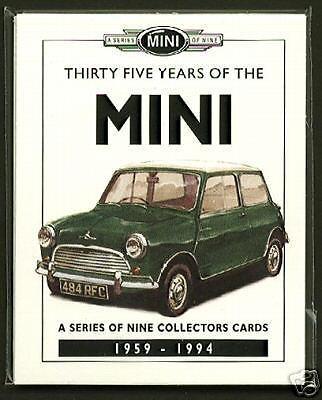 35 anni di mini-ORIGINALE DA COLLEZIONE Card Set-MINOR City Works Cooper S
