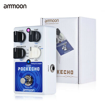 ammoon delay looper guitar effect pedal 8 delay effects 300s loop time tap tempo ebay. Black Bedroom Furniture Sets. Home Design Ideas