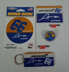 66-McLaren-Racing-Fernando-Alonso-Collector-Decal-Magnet-Lapel-Pin-Key-Chain