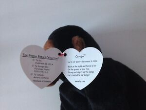 afe2724fd79 TY Beanie Babies - Congo The Gorilla  Rare  Indonesian with Tag Error
