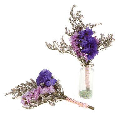 1:6 Dollhouse Miniature Glass Bottle Flower Arrangement Mini Potted Plant De JA