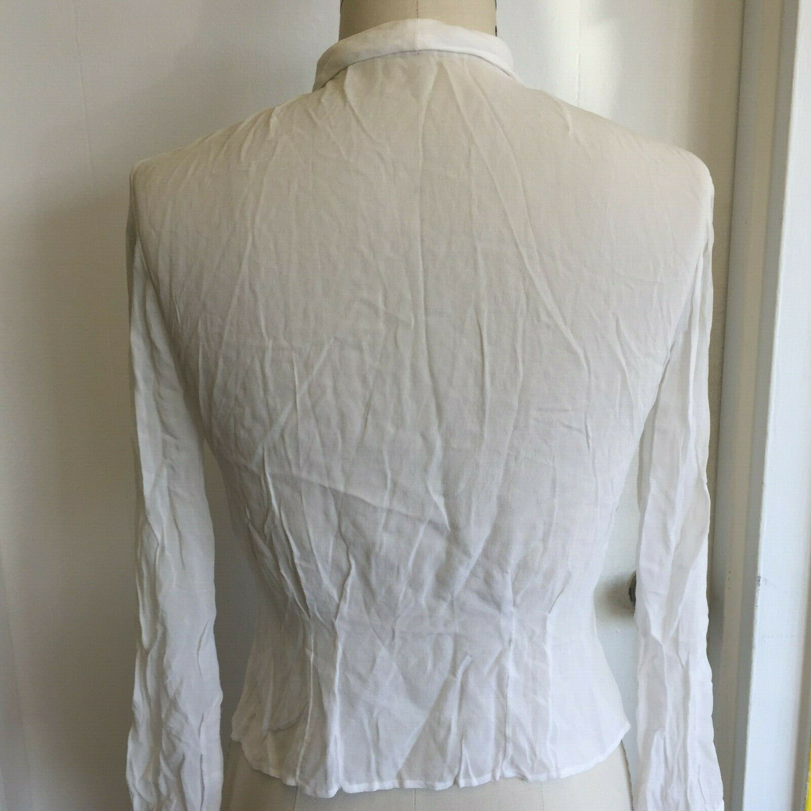 Vtg Hungarian Blouse S Embroidered Hand Made Hung… - image 4