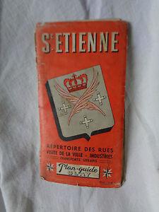 Plano-Antiguo-de-la-Ayuntamiento-de-San-Etienne-Vintage