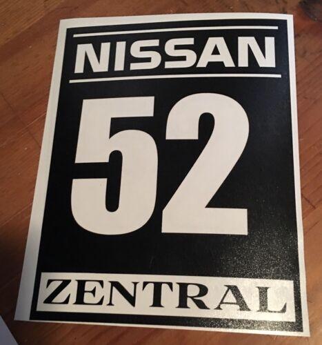 Customized Track Numbers Vinyl Decal Sticker Autocross Race Door Window Racing