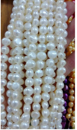 5-6 mm multicolor Freshwater Cultured Pearl Flat Gemstone Loose Beads 13 /' /'
