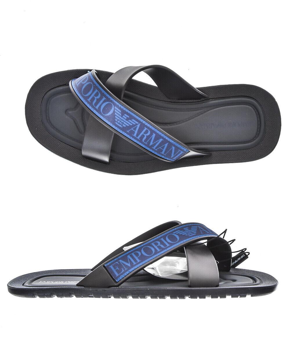 Emporio Armani Slippers scarpe ITALY Man  blu X4P079XL293 A046 Sz.41 PUT OFFERTA  vieni a scegliere il tuo stile sportivo