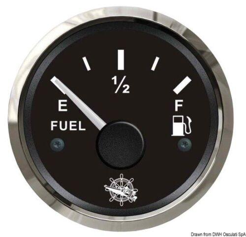 Indicatore carburante 240//33 Ohm nero//lucidaMarca Osculati27.321.01