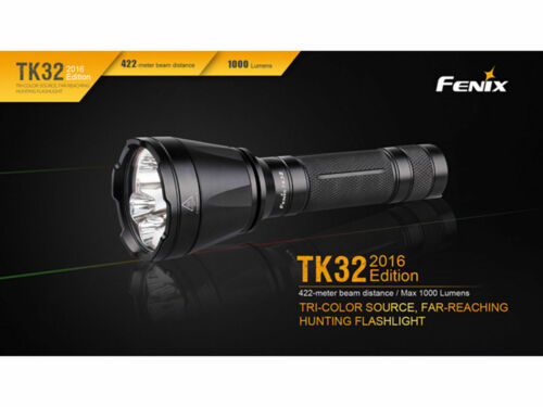 Fenix TK32 2016 Cree LED Red Green Tactical Flashlight Torch+3500mAh Battery
