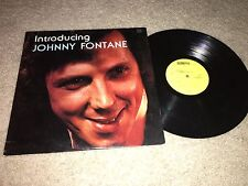 INTRODUCING JOHNNY FONTANE Scorpio Records PROMOTIONAL LP Ohio LOUNGE CHEESECAKE