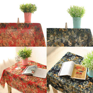 Japanese-style-modern-Cotton-Linen-Tablecloth-Table-Cover-Tea-Bedside-Cloth